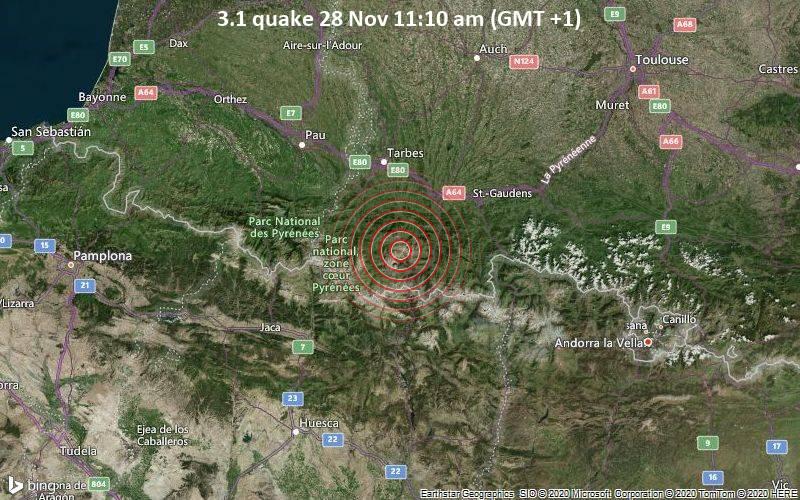 3.1 quake 28 Nov 11:10 am (GMT +1)