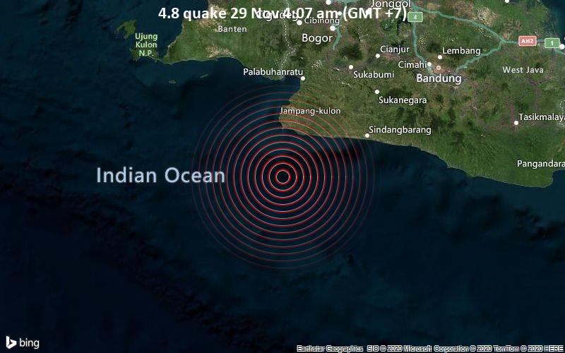 4.8 quake 29 Nov 4:07 am (GMT +7)