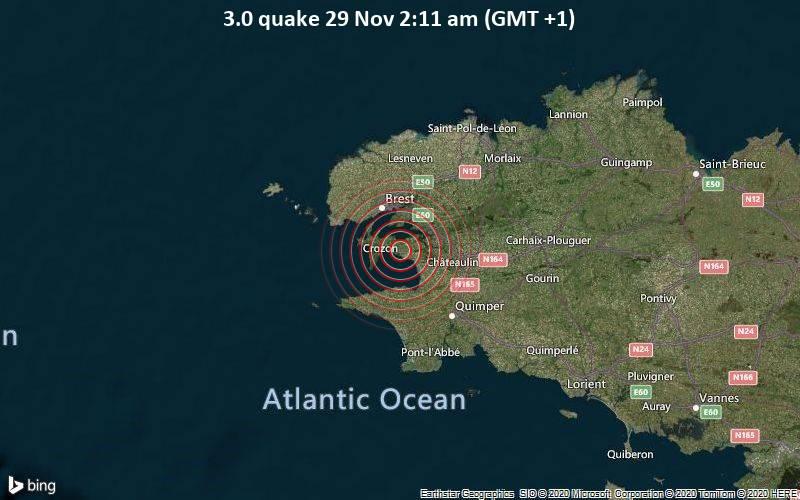 3.0 quake 29 Nov 2:11 am (GMT +1)