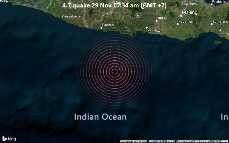 4.7 quake 29 Nov 10:34 am (GMT +7)