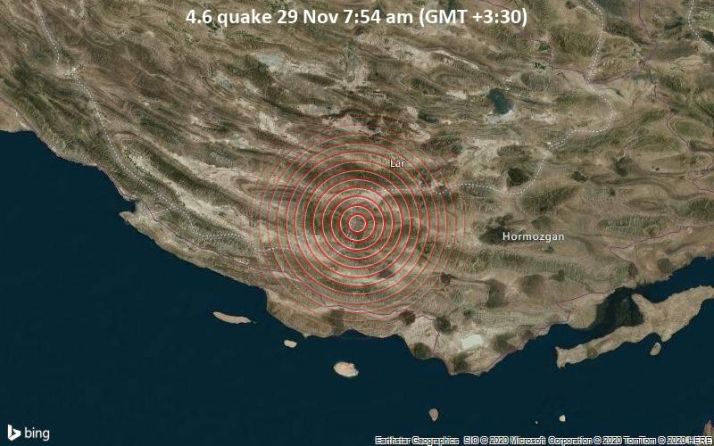 4.6 quake 29 Nov 7:54 am (GMT +3:30)