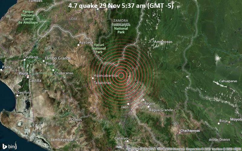 4.7 quake 29 Nov 5:37 am (GMT -5)