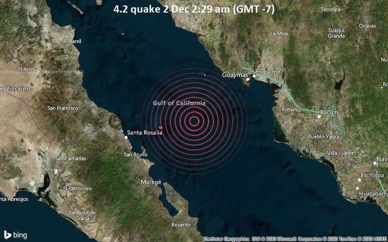 4.2 quake 2 Dec 2:29 am (GMT -7)