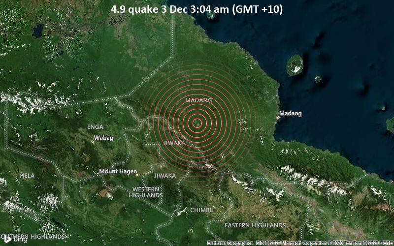 4.9 quake 3 Dec 3:04 am (GMT +10)