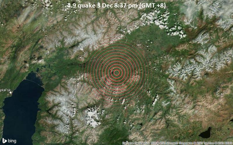 4.9 quake 3 Dec 8:37 pm (GMT +8)