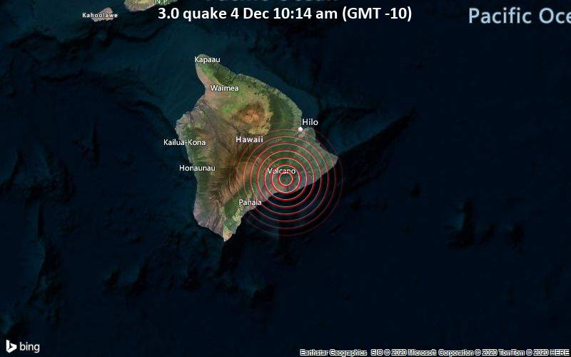 3.0 quake 4 Dec 10:14 am (GMT -10)