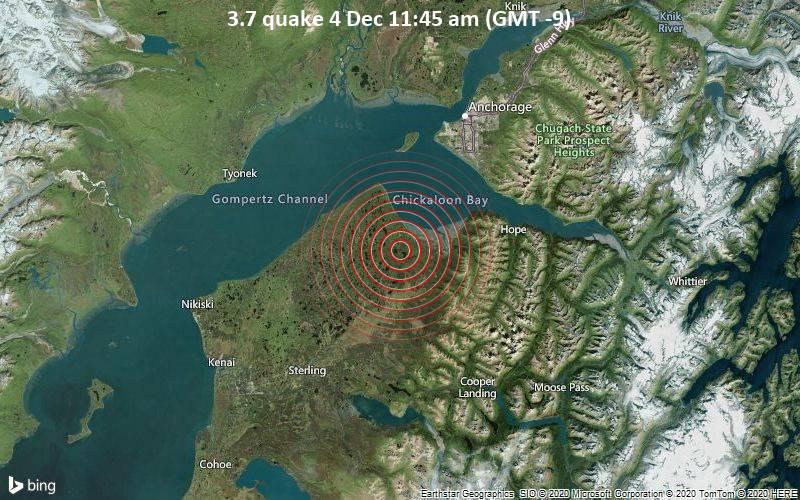3.7 quake 4 Dec 11:45 am (GMT -9)