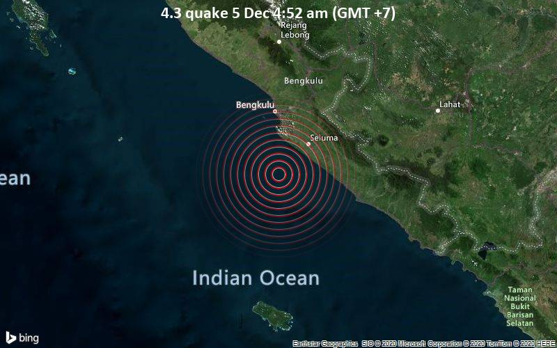 4.3 quake 5 Dec 4:52 am (GMT +7)