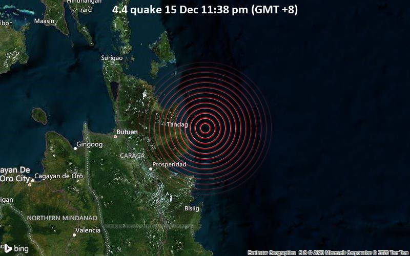 4.4 quake 15 Dec 11:38 pm (GMT +8)