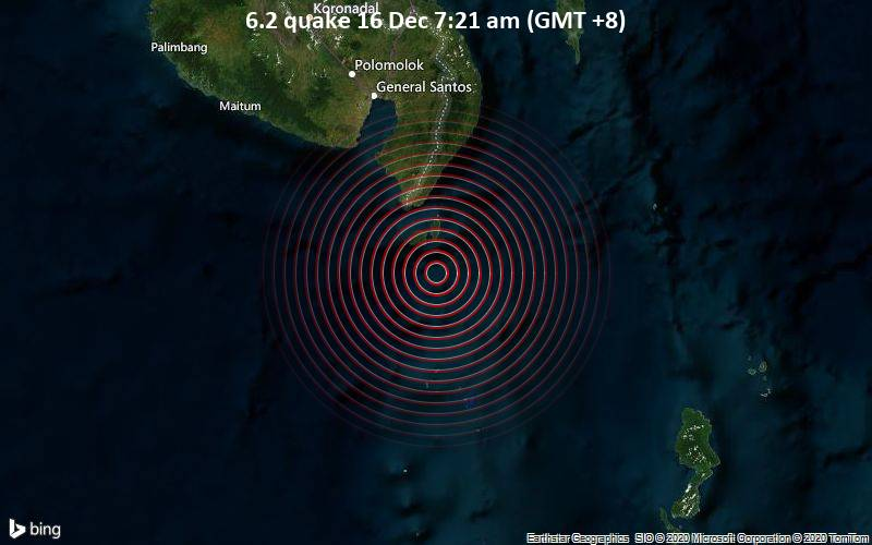 6.2 quake 16 Dec 7:21 am (GMT +8)