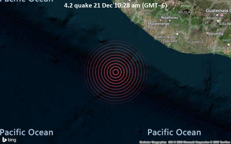 4.2 terremoto 21 de diciembre 10:28 (GMT -6)