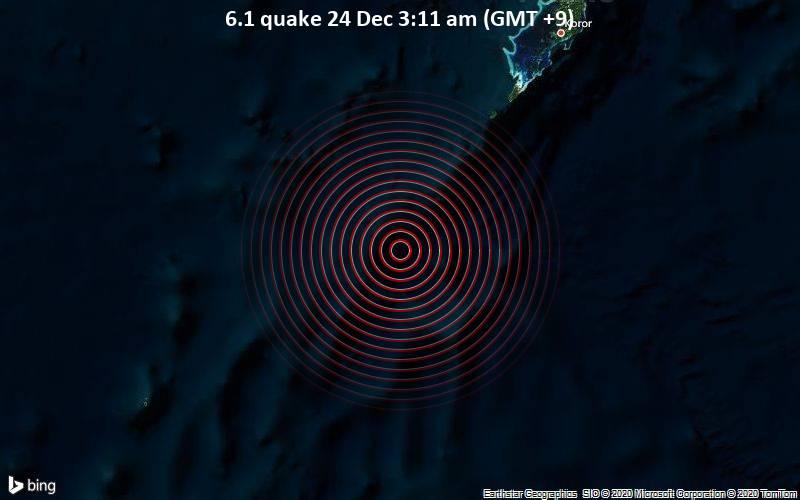 6.1 quake 24 Dec 3:11 am (GMT +9)