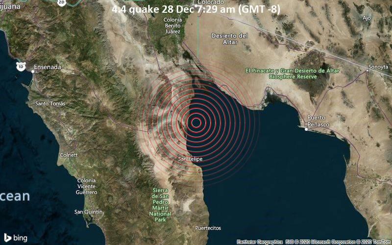 4.4 quake 28 Dec 7:29 am (GMT -8)