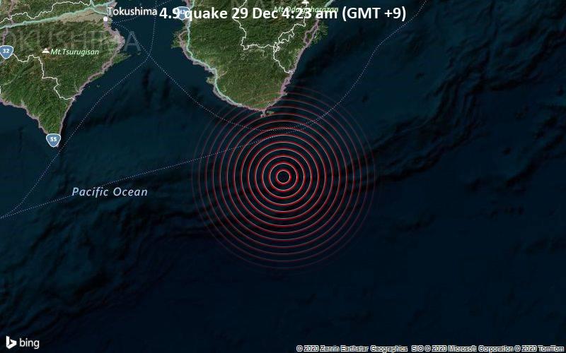 4.9 quake 29 Dec 4:23 am (GMT +9)