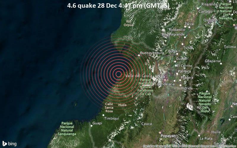 4.6 quake 28 Dec 4:47 pm (GMT -5)