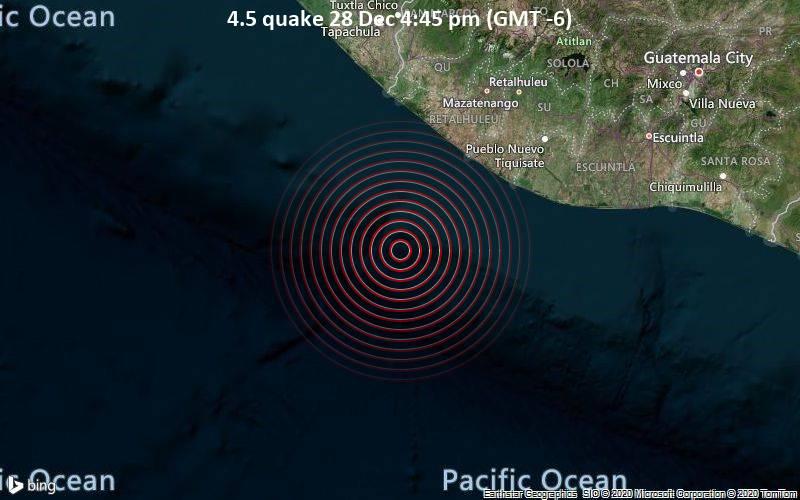 4.5 quake 28 Dec 4:45 pm (GMT -6)