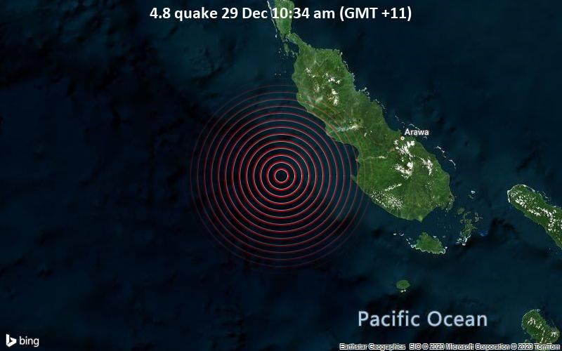 4.8 quake 29 Dec 10:34 am (GMT +11)