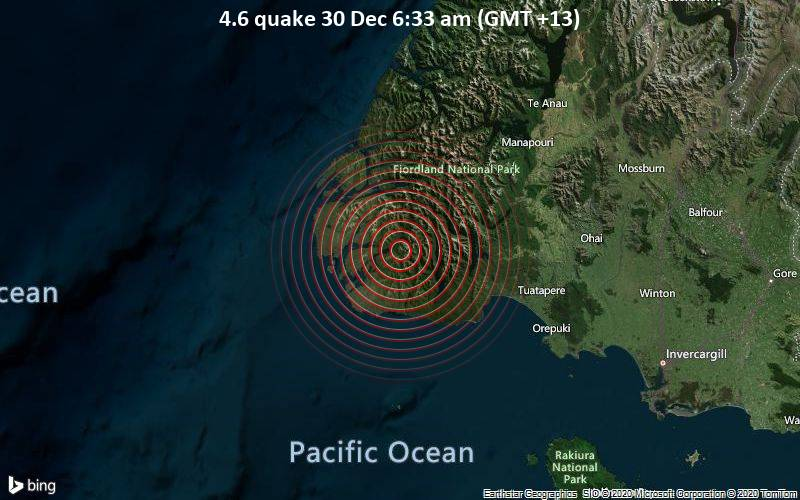 4.6 quake 30 Dec 6:33 am (GMT +13)