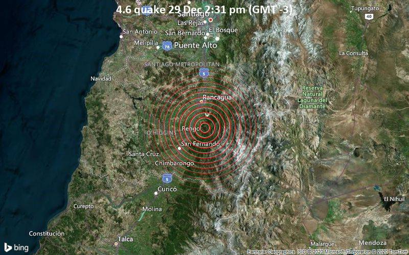 4.6 quake 29 Dec 2:31 pm (GMT -3)