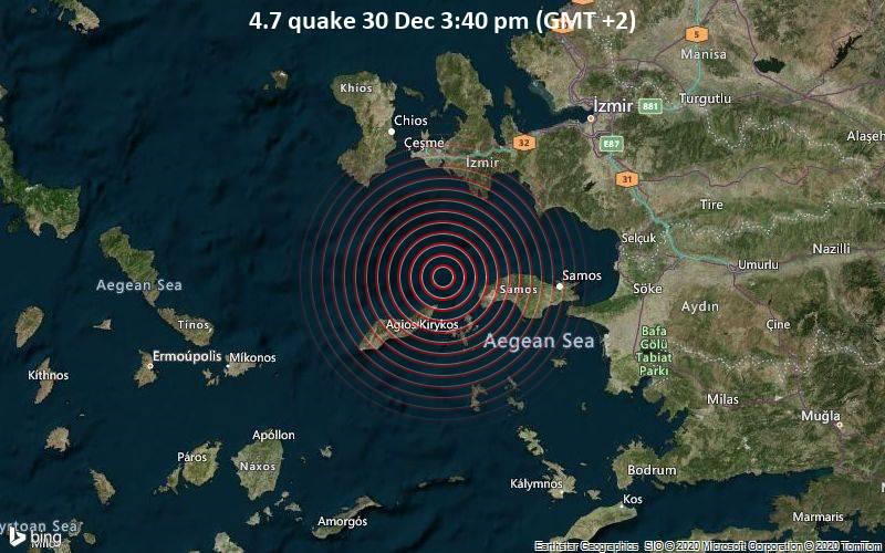 4.7 quake 30 Dec 3:40 pm (GMT +2)