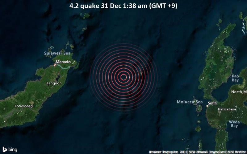 4.2 quake 31 Dec 1:38 am (GMT +9)