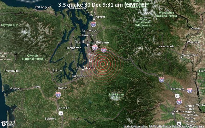 3.3 quake 30 Dec 9:31 am (GMT -8)