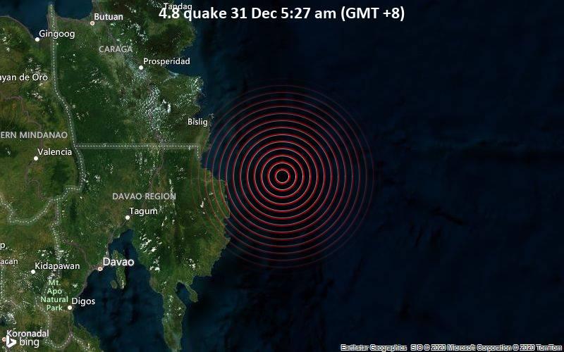 4.8 quake 31 Dec 5:27 am (GMT +8)