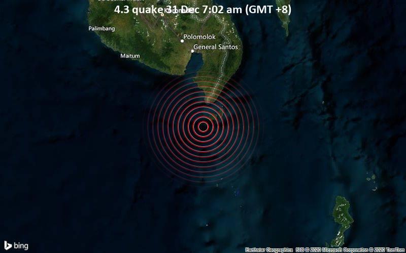 4.3 quake 31 Dec 7:02 am (GMT +8)