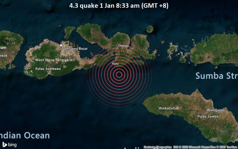4.3 quake 1 Jan 8:33 am (GMT +8)
