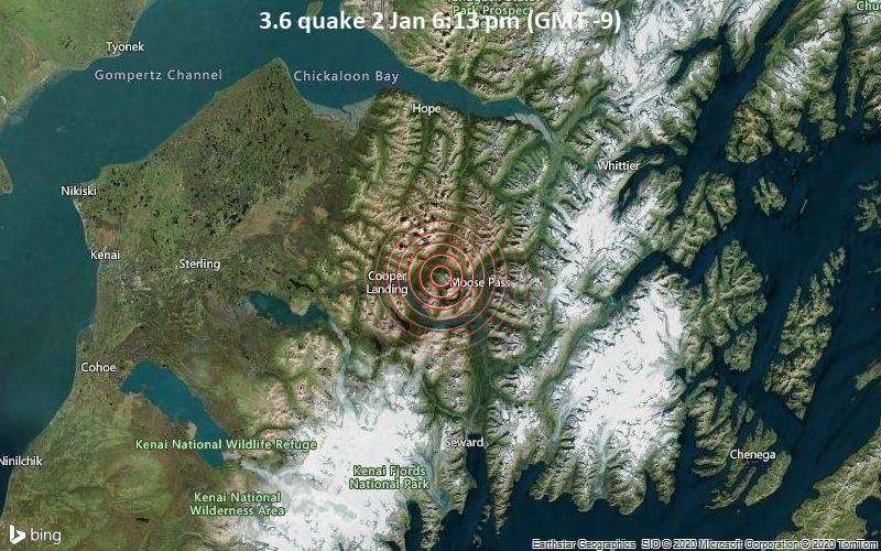 3.6 quake 2 Jan 6:13 pm (GMT -9)