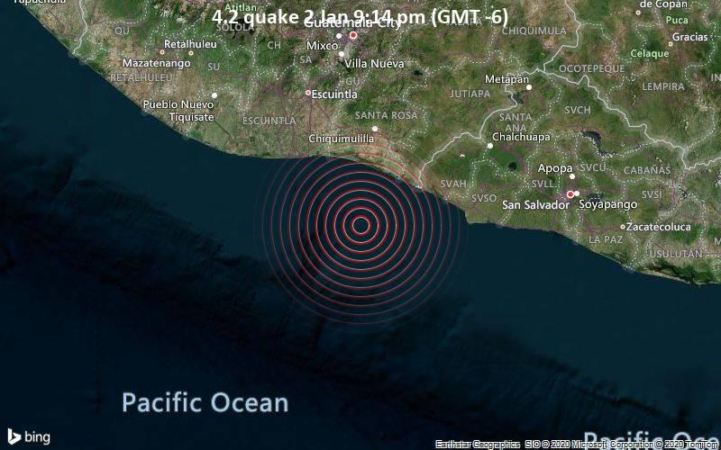 4.2 quake 2 Jan 9:14 pm (GMT -6)