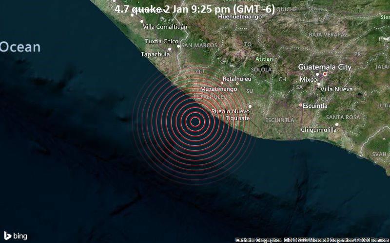 4.7 quake 2 Jan 9:25 pm (GMT -6)