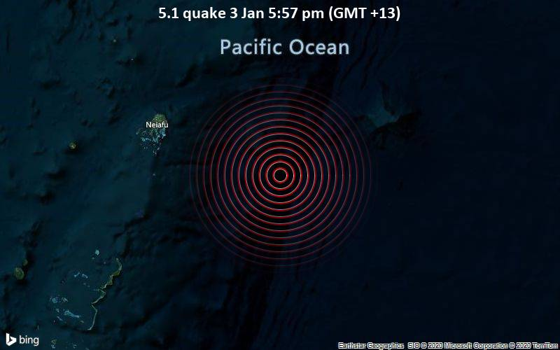 5.1 quake 3 Jan 5:57 pm (GMT +13)