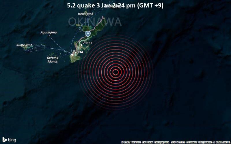 5.2 quake 3 Jan 2:24 pm (GMT +9)