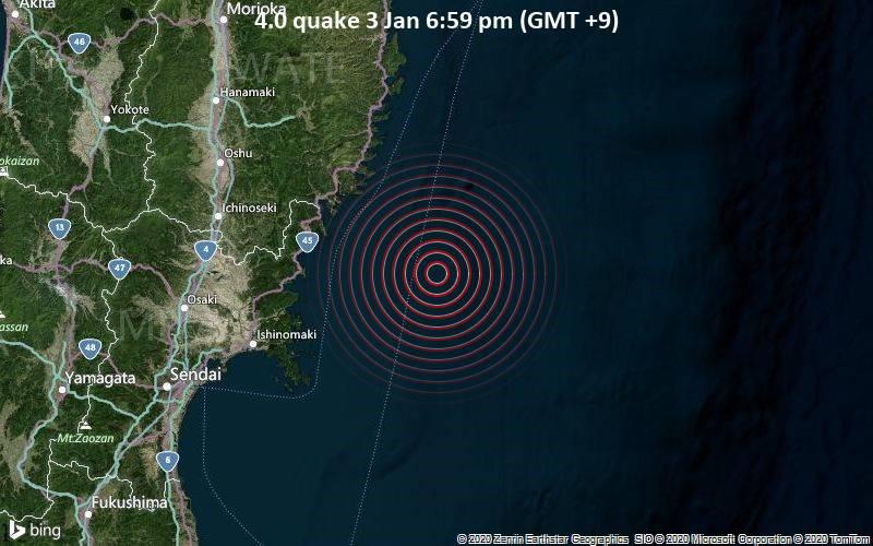 4.0 quake 3 Jan 6:59 pm (GMT +9)
