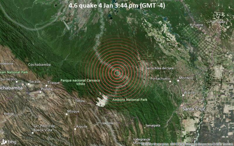 4.6 quake 4 Jan 3:44 pm (GMT -4)