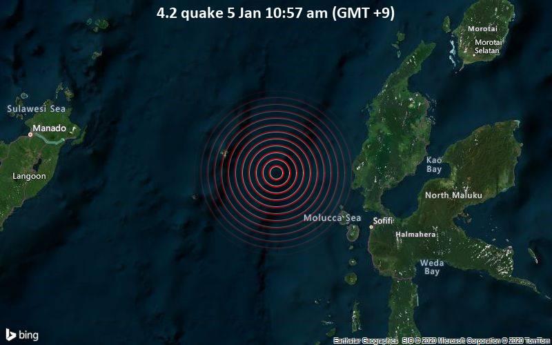 4.2 quake 5 Jan 10:57 am (GMT +9)