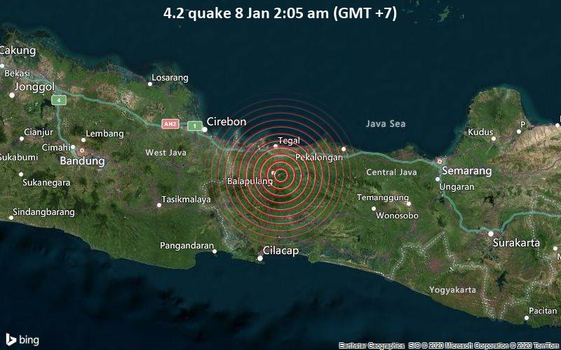 4.2 quake 8 Jan 2:05 am (GMT +7)