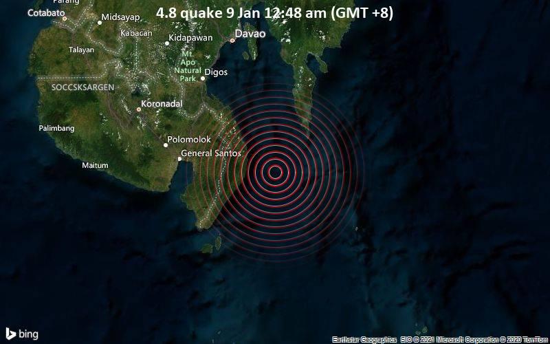 4.8 quake 9 Jan 12:48 am (GMT +8)