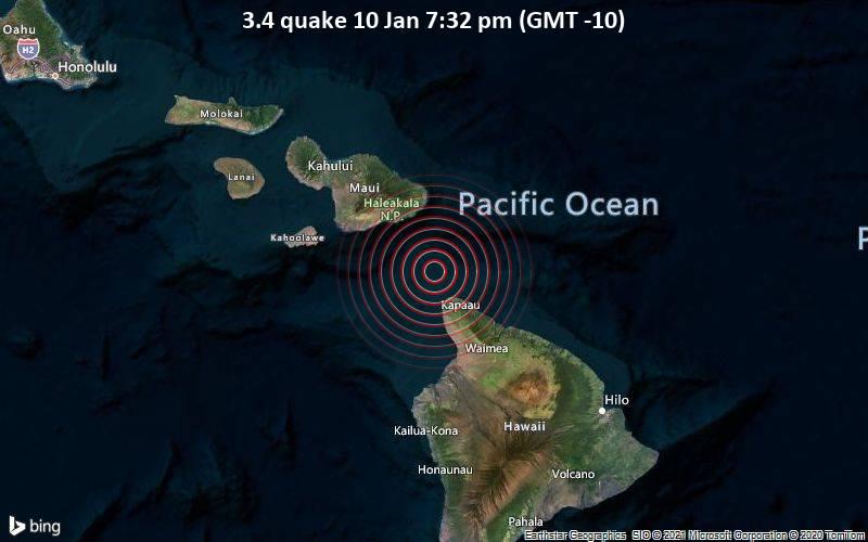3.4 quake 10 Jan 7:32 pm (GMT -10)