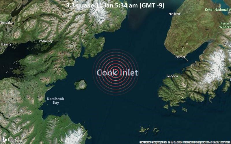 3.3 quake 11 Jan 5:34 am (GMT -9)
