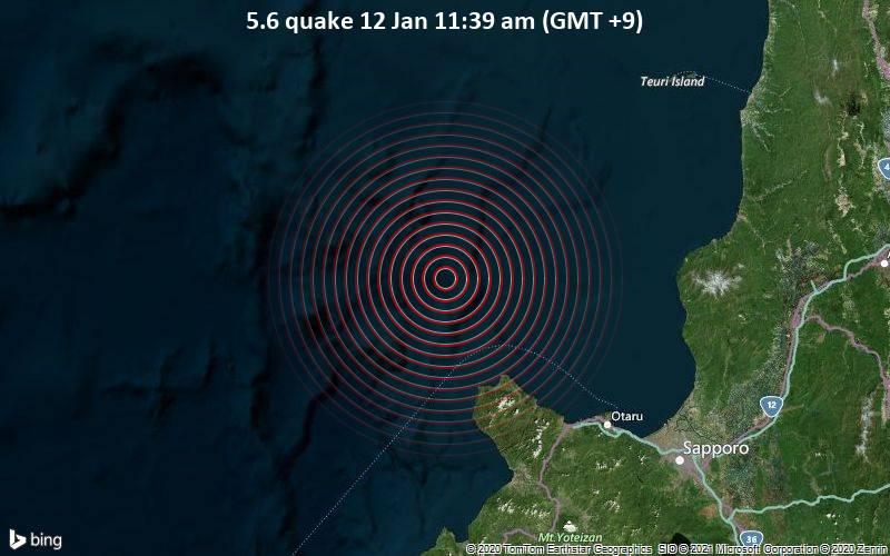 5.6 quake 12 Jan 11:39 am (GMT +9)