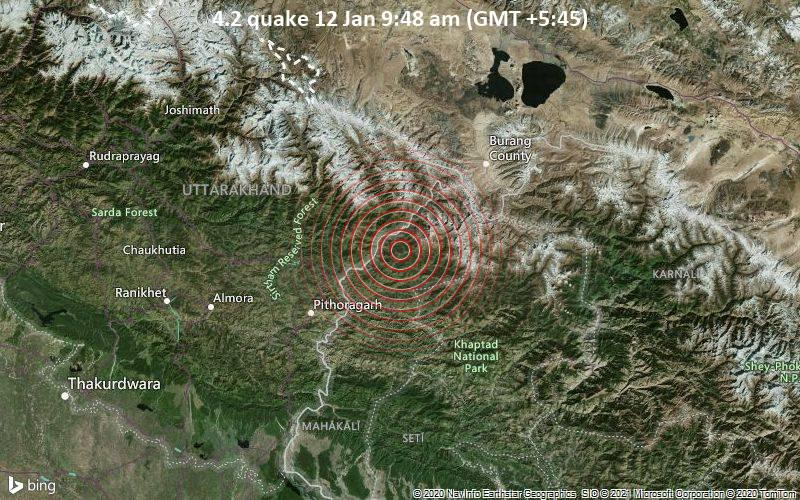 4.2 quake 12 Jan 9:48 am (GMT +5:45)