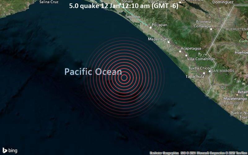 5.0 quake 12 Jan 12:10 am (GMT -6)