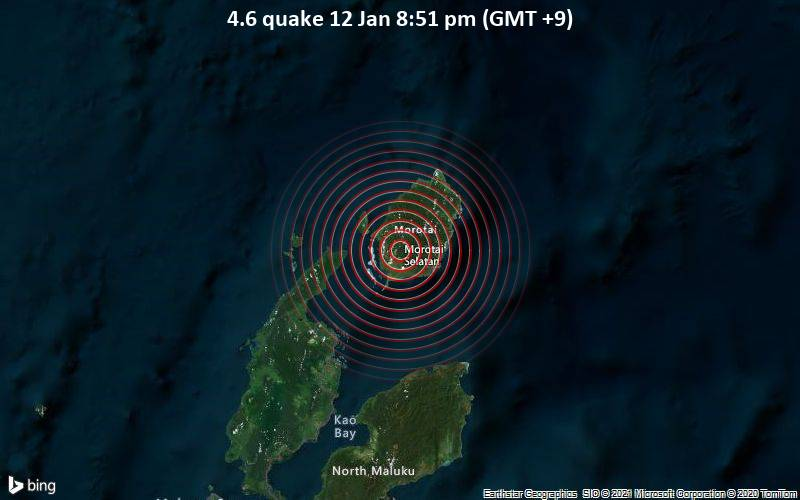 4.6 quake 12 Jan 8:51 pm (GMT +9)