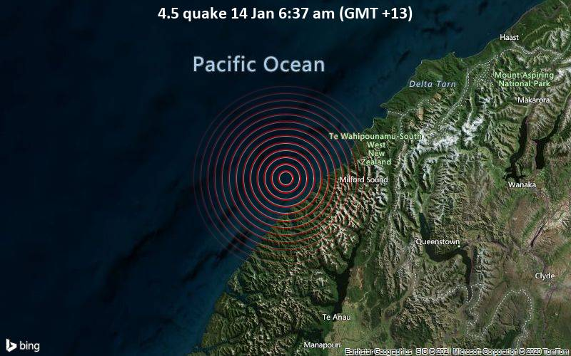 4.5 quake 14 Jan 6:37 am (GMT +13)