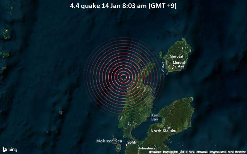 4.4 quake 14 Jan 8:03 am (GMT +9)