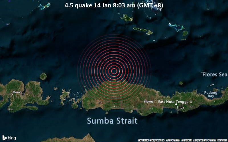 4.5 quake 14 Jan 8:03 am (GMT +8)