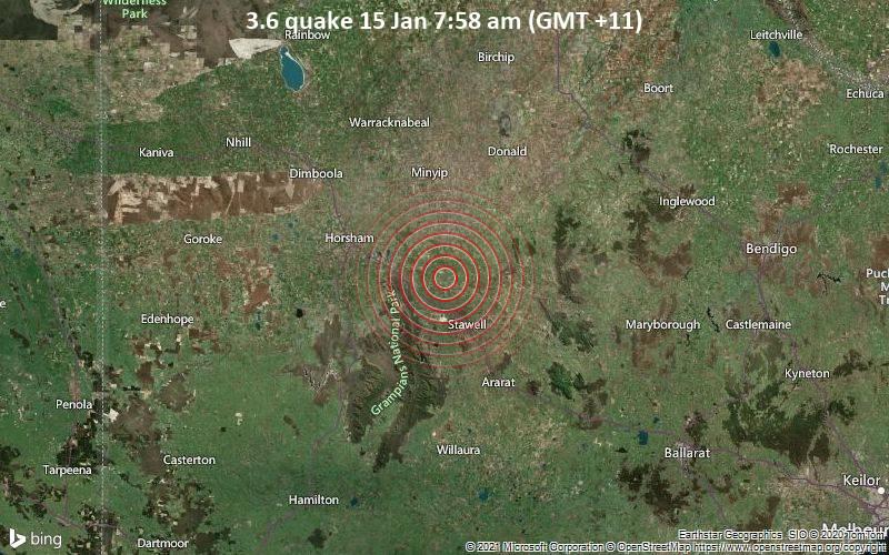 3.6 quake 15 Jan 7:58 am (GMT +11)