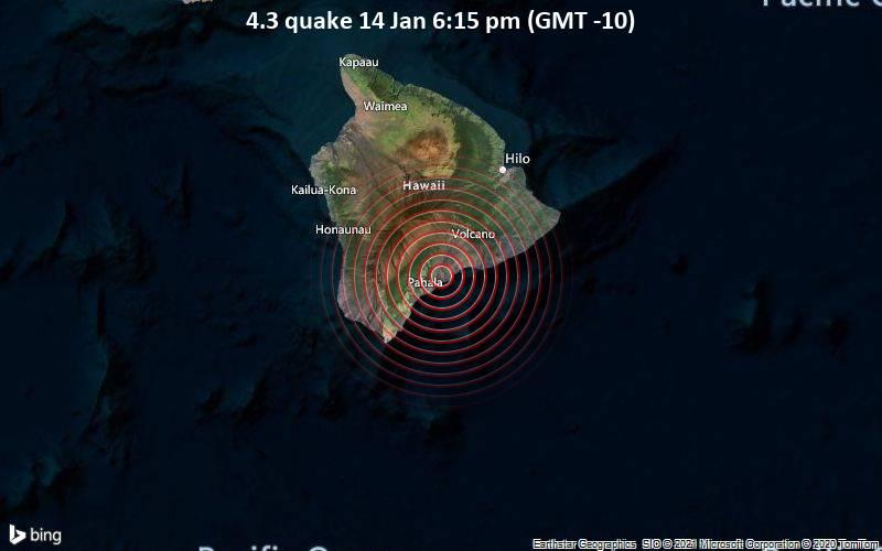 4.3 quake 14 Jan 6:15 pm (GMT -10)